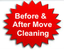 before and after move cleaning